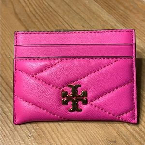"NWT Kira Chevron Card Case Crazy Pink 3""x 4"""